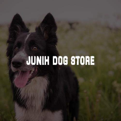 Logo Junih Dog Store blanc