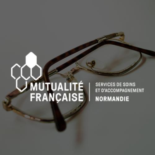 Logo Mutualité Française Normandie Blanc
