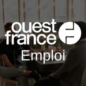 Logo Ouest France Emploi blanc