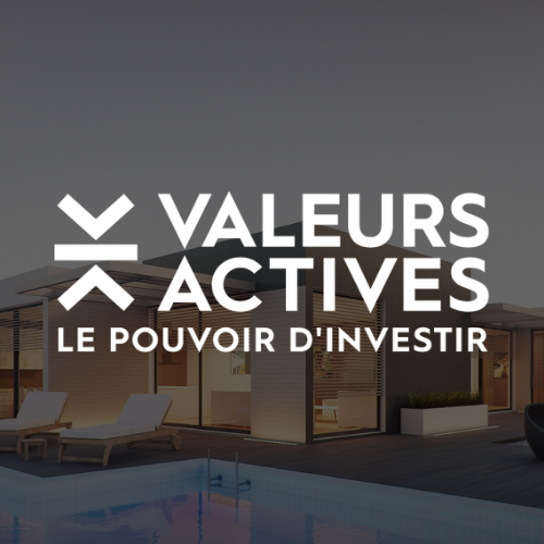 Logo Valeurs Actives blanc