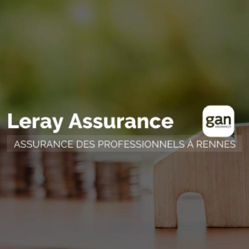 Logo blanc Leray Assurance Gan
