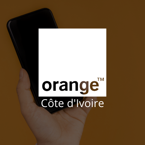 Logo blanc Orange CI