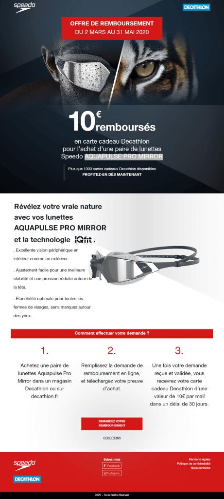 Mini-site de la campagne ODR - Speedo